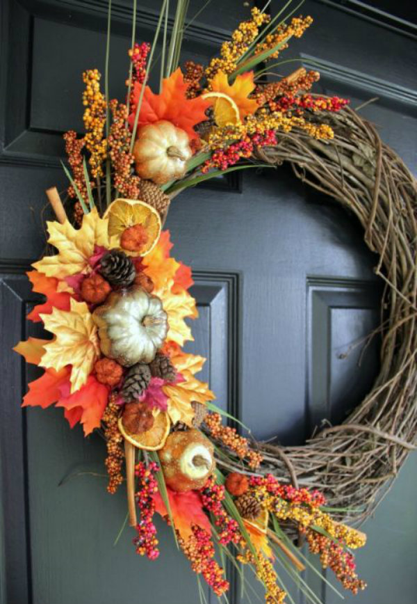 Bring in the fall wreath