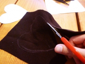Cutting out Material for Hand Warmers
