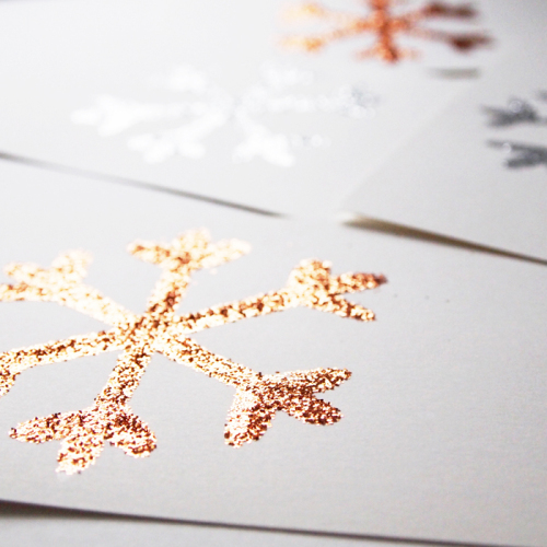Glitter snowflake cards
