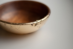 Gold Leaf Wooden Bowls