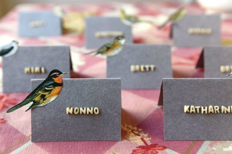 Natural name cards
