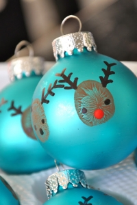 Reindeer Thumbprint Baubles