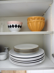 Washi Taped Shelves