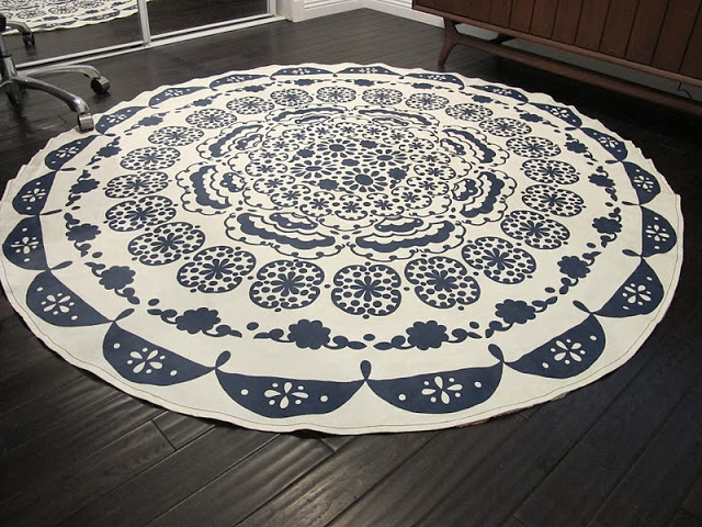 Tablecloth rug