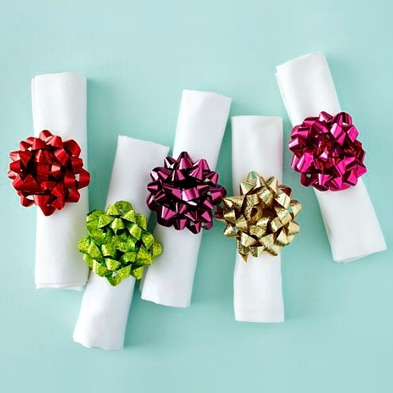 bow napkin rings