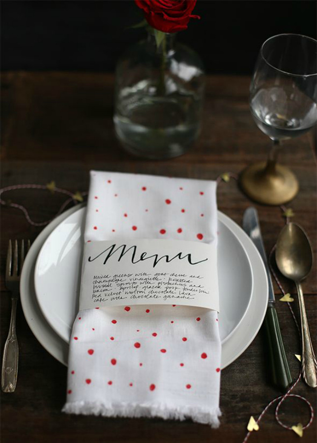menu napkin ring