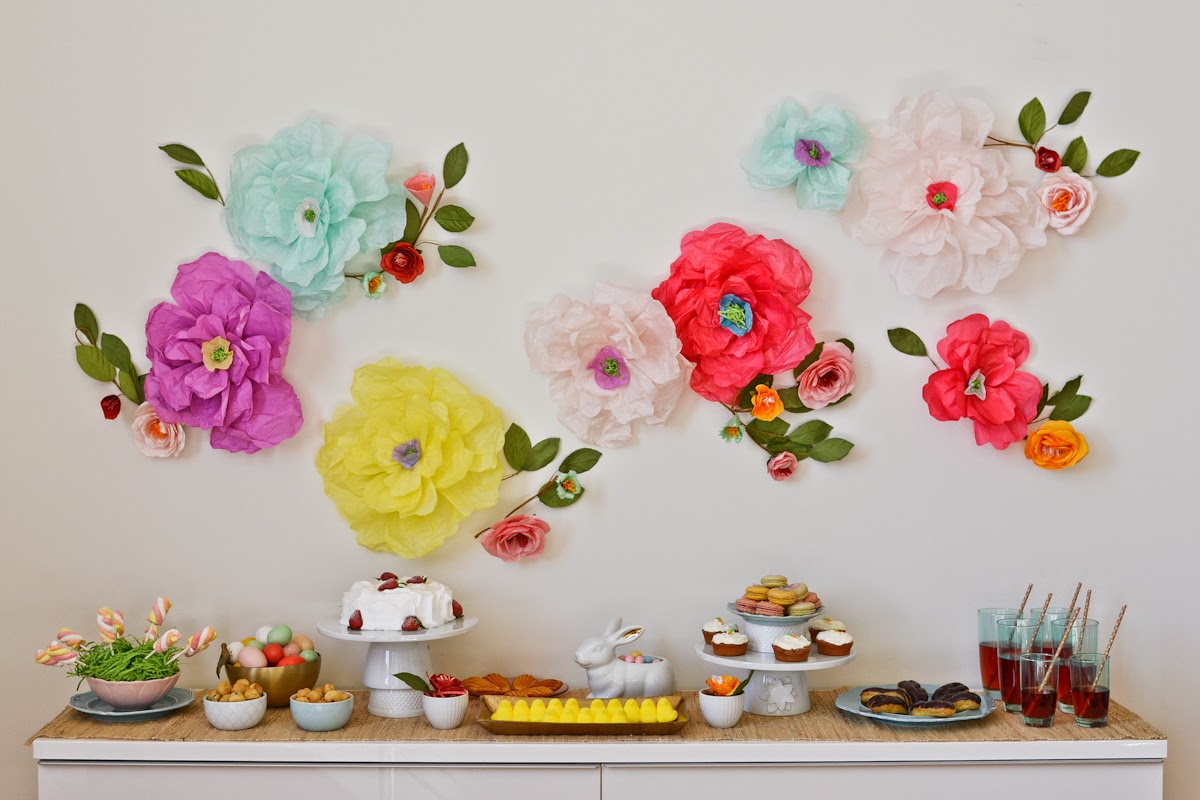 15 diy ideas for party decorations on a budget reliable for Flower decoration made of paper