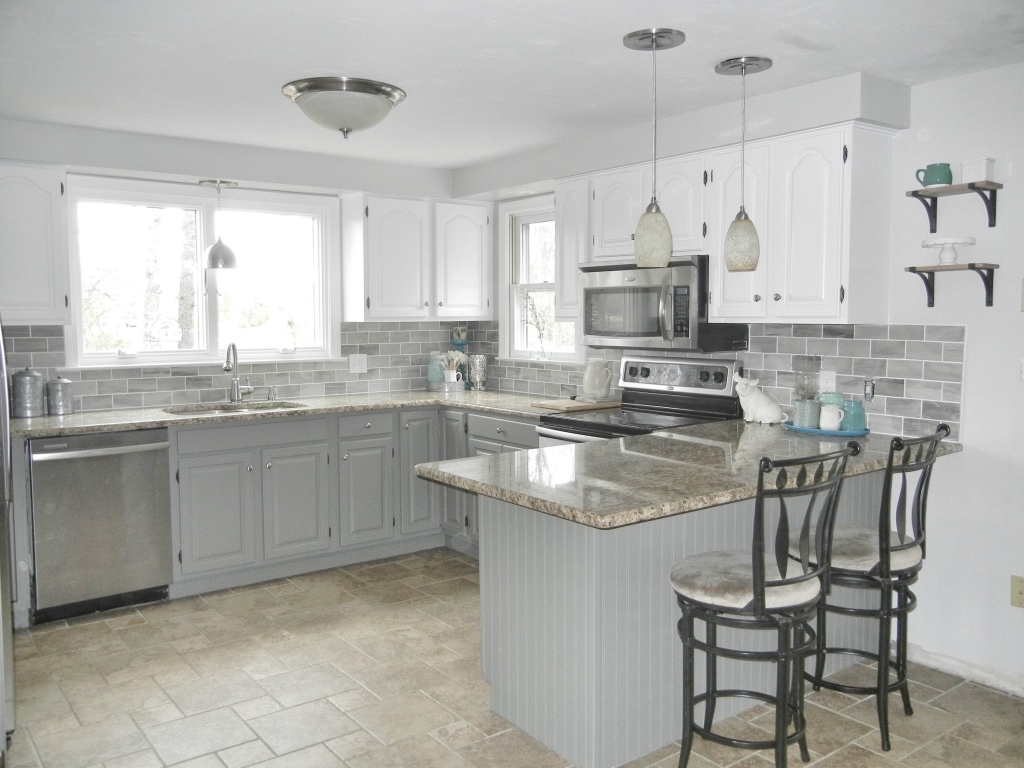 White and Grey KItchen After