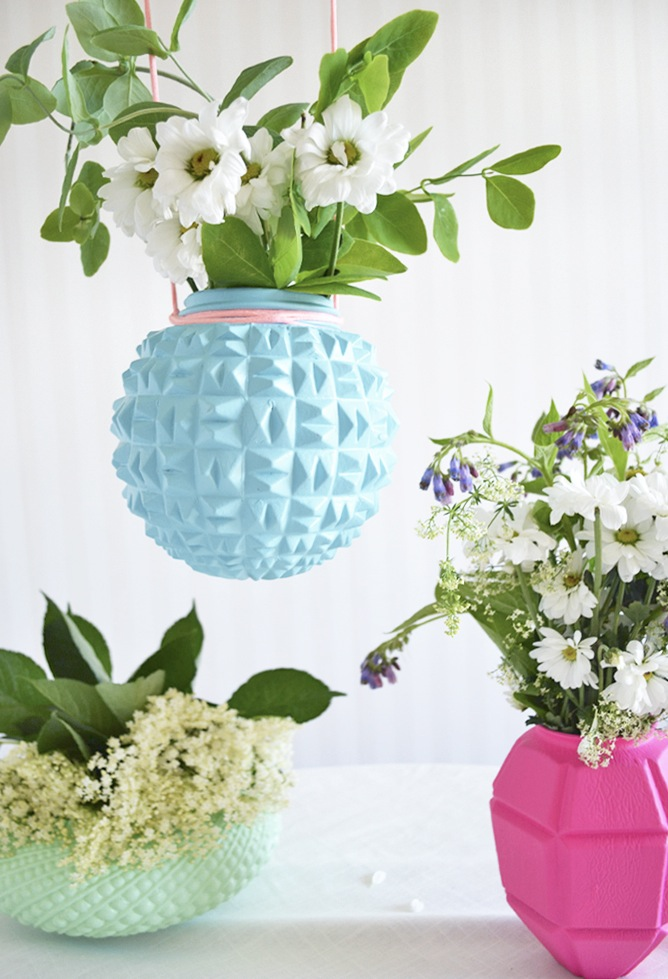 lampshade vases