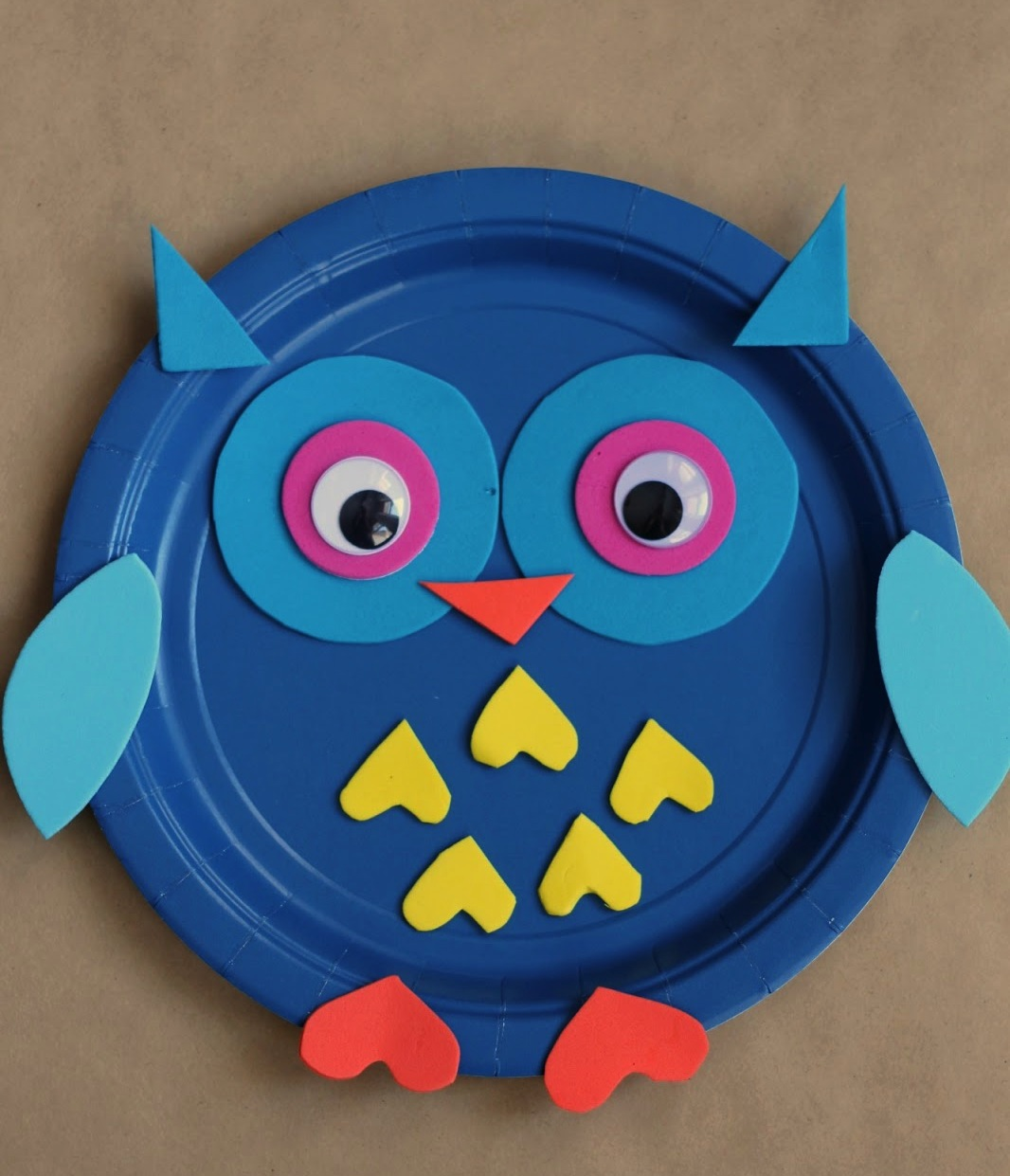 Paper plate animal crafts - Paper Plate Owl