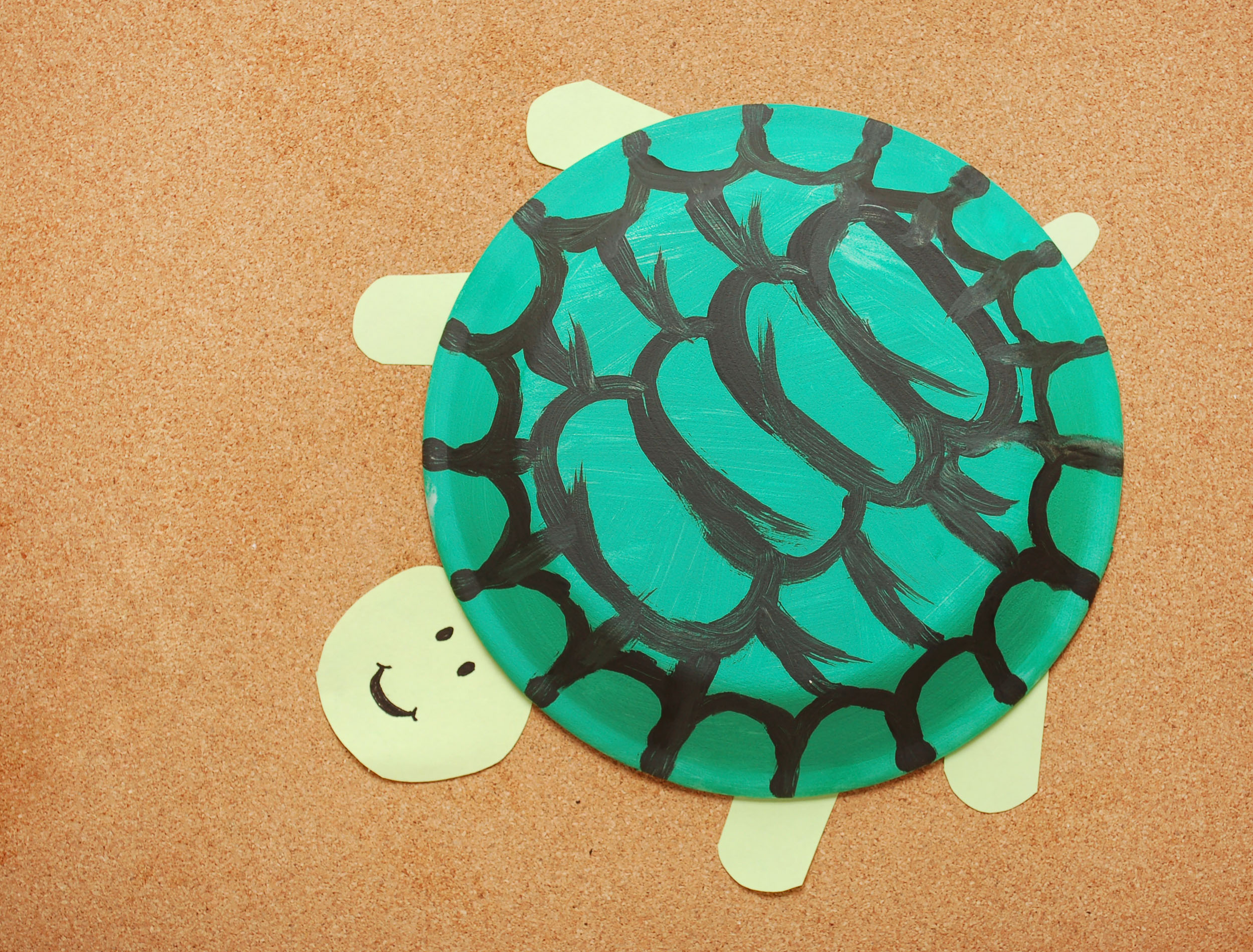 Paper plate animal crafts - Paper Plate Turtle