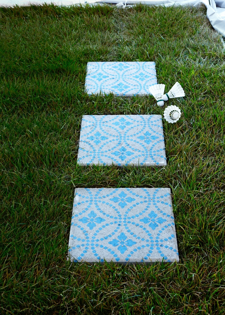 patterned paving stones