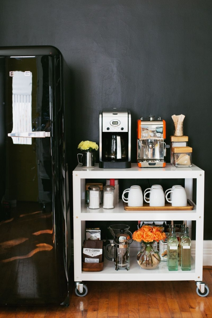 10. Have yourself an in-home coffee cart