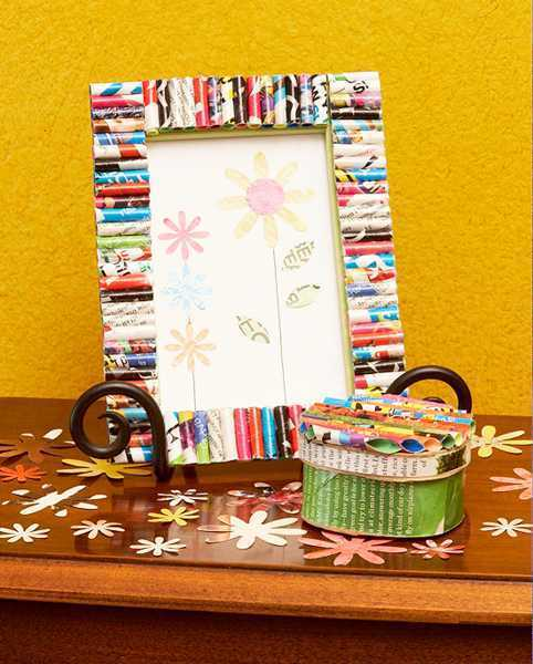 Straw Photo frame